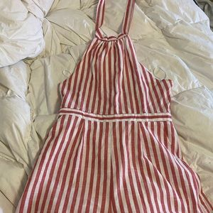 shein romper red and white stripes